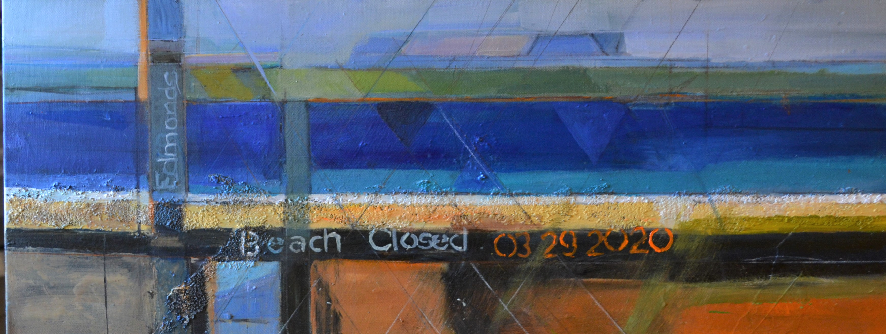Beach Closed by Delores Haugland, Acrylic