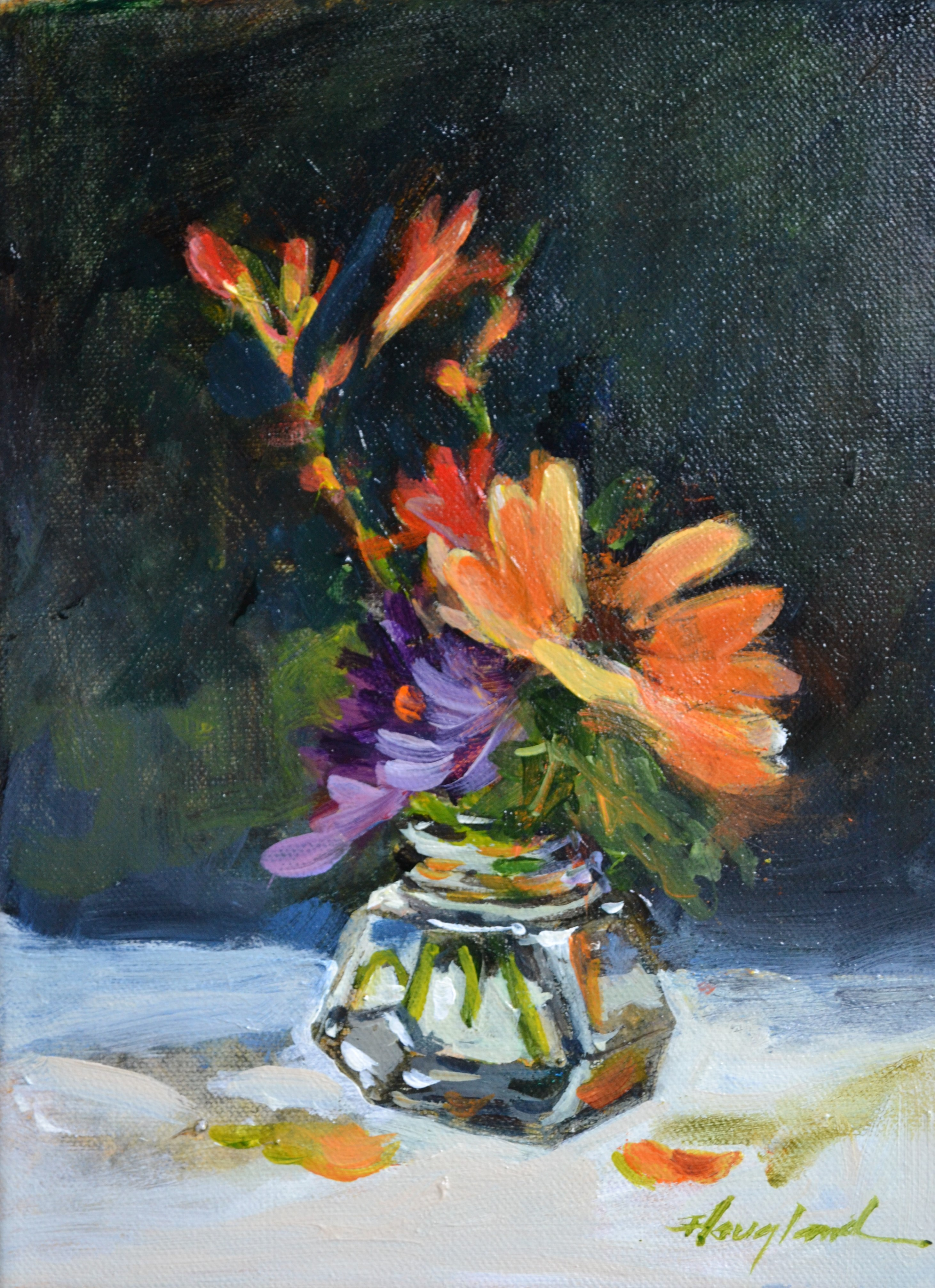 Ink Bottle Bouquet by Delores Haugland, Acrylic