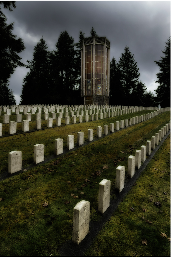 Military Cemetery by Sam Spencer, Photograph, $150