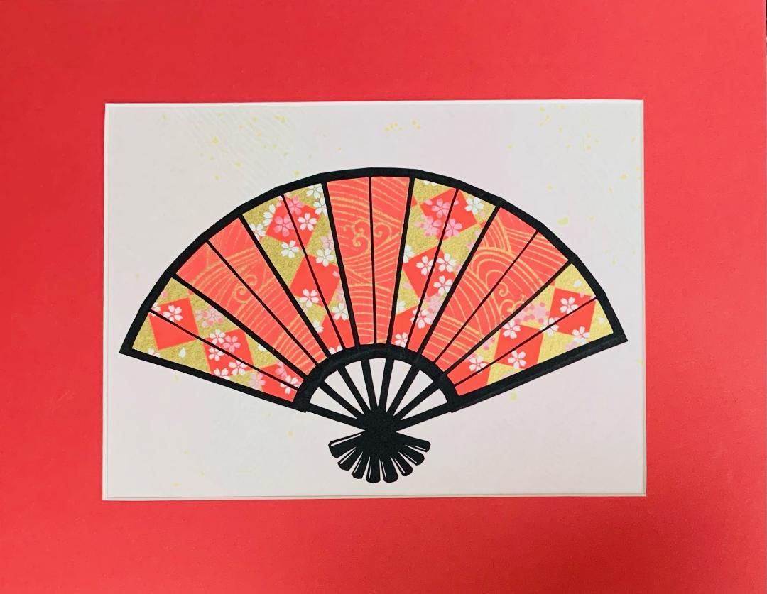 Pink Fan by Sachi Tanimoto