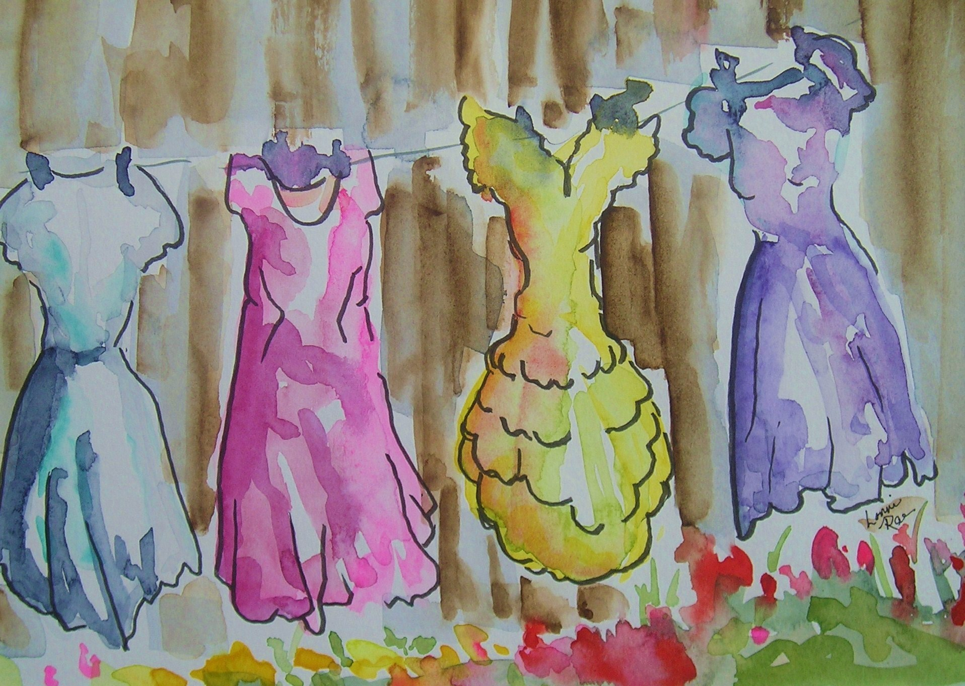 And What I Wore by Lonni Flowers, Watercolors