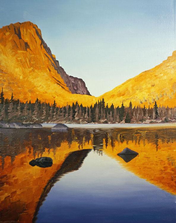 Cathedral Lake Pasayten Wilderness by Ben Groff, Oils