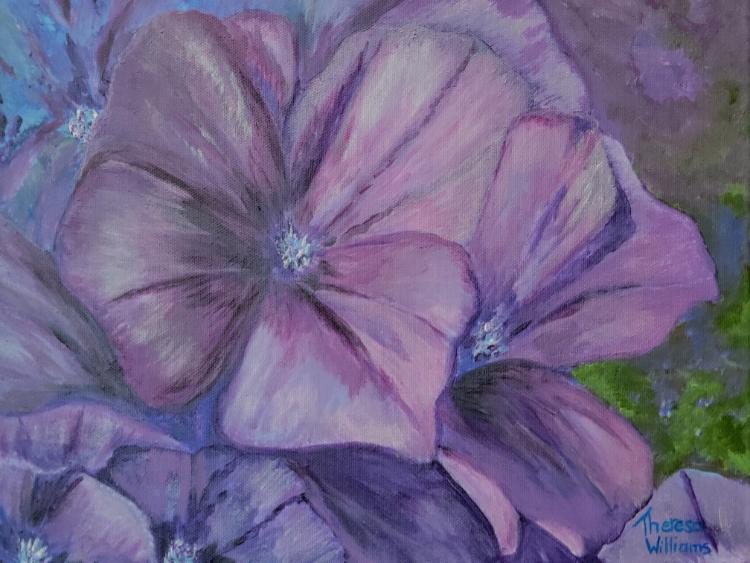 Hydrangea by Theresa Williams, Acrylic