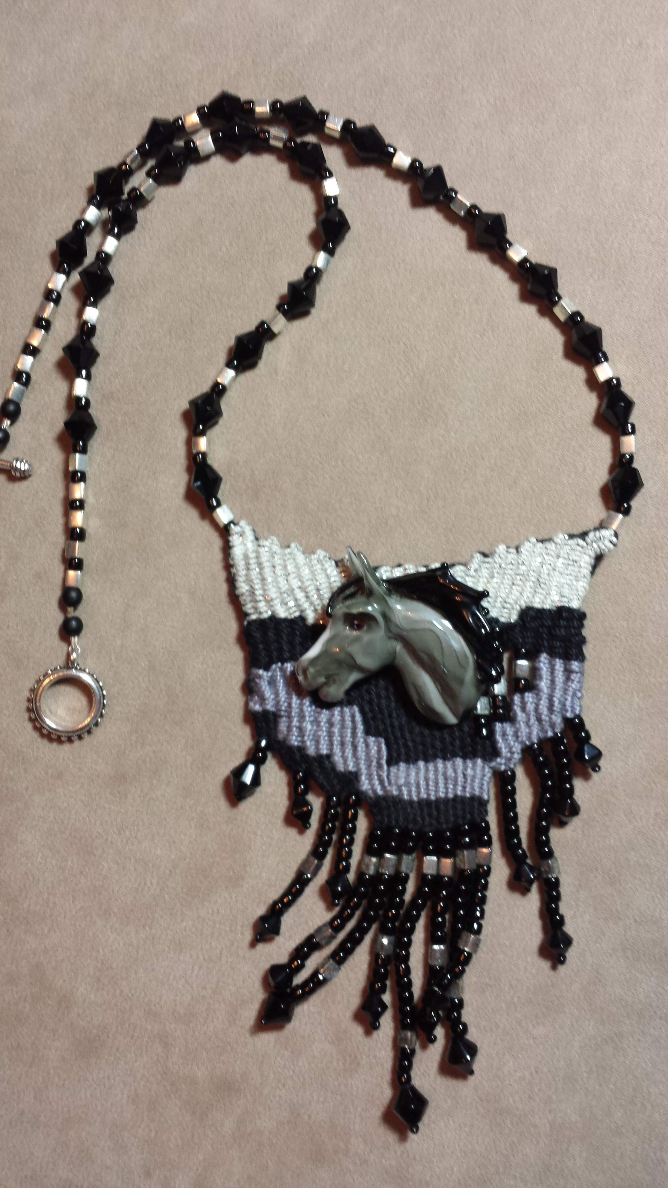 Native Horse Necklace by Lonni Flowers