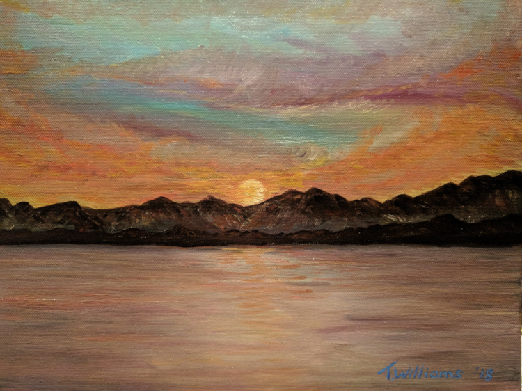 Sunset Reflections by Theresa Williams, Acrylic