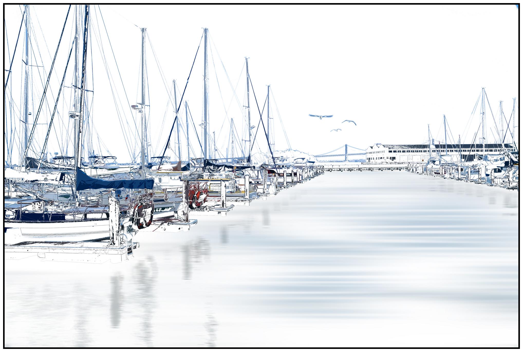 Sailboats Sleeping Seven Six by Tom Saknit, Redacted Photography