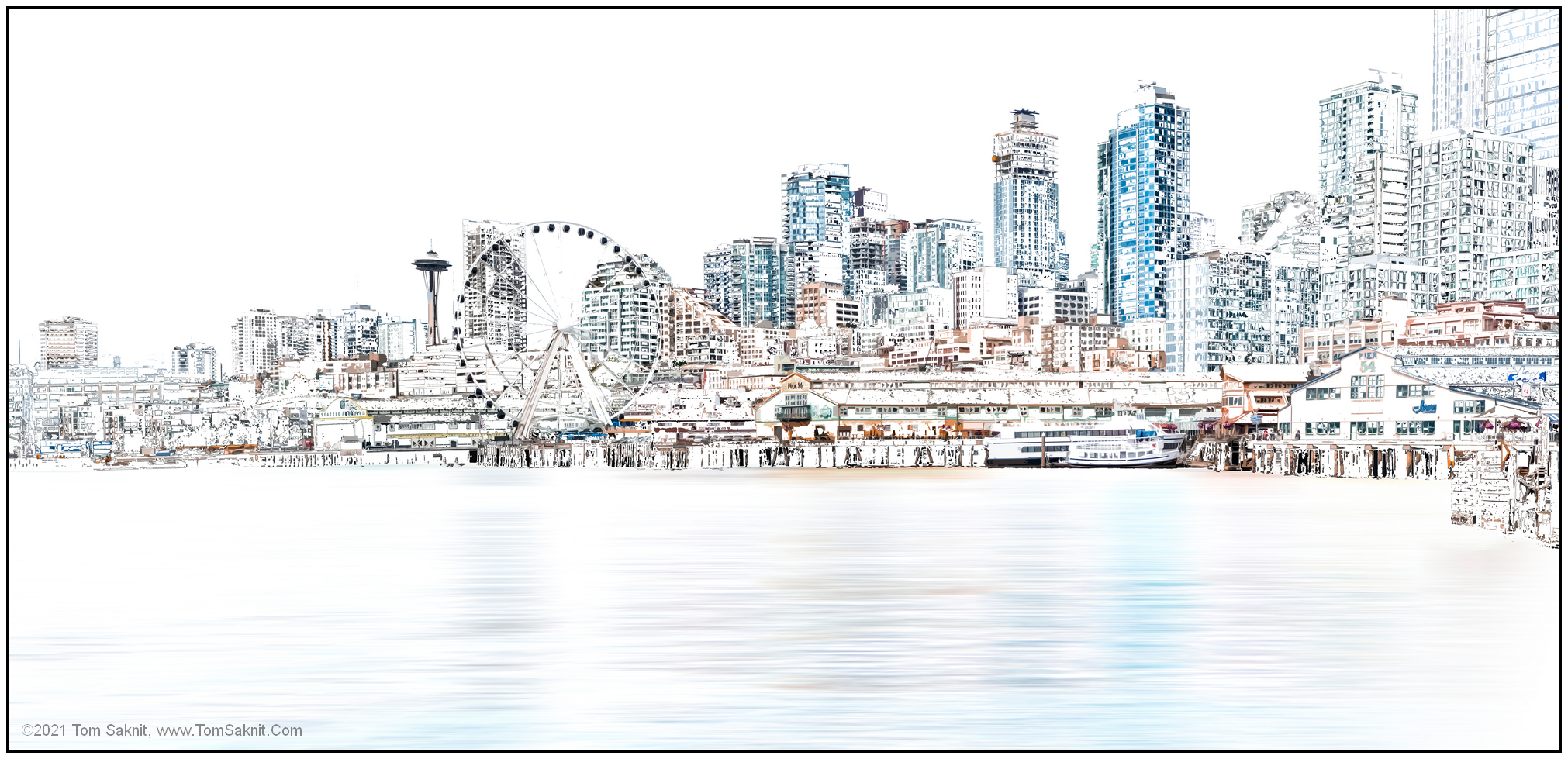 Seattle Wheel Four Six by Tom Saknit, Redacted Photography