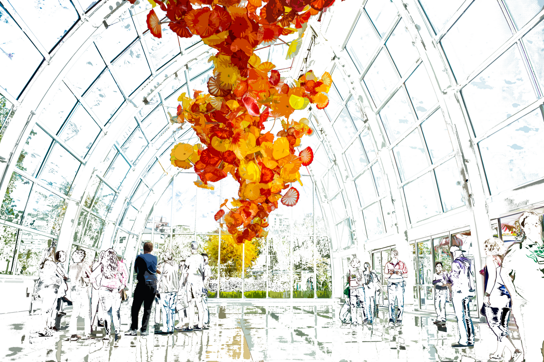 Chihuly Chapel Three Six by Tom Saknit, Redacted Photography